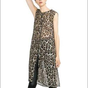 Zara animal print tunic S